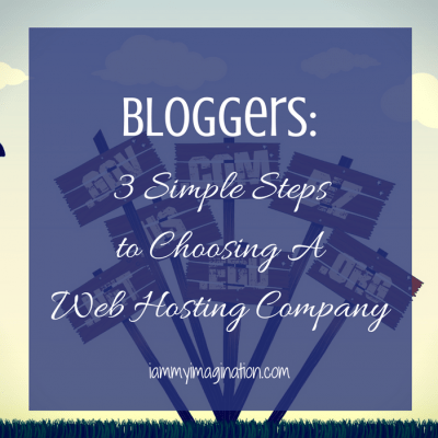 Bloggers: 3 Simple Steps to Choosing A Web Hosting Company