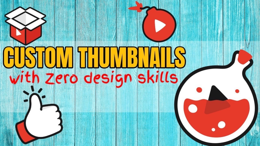 Custom thumbnails words and icons