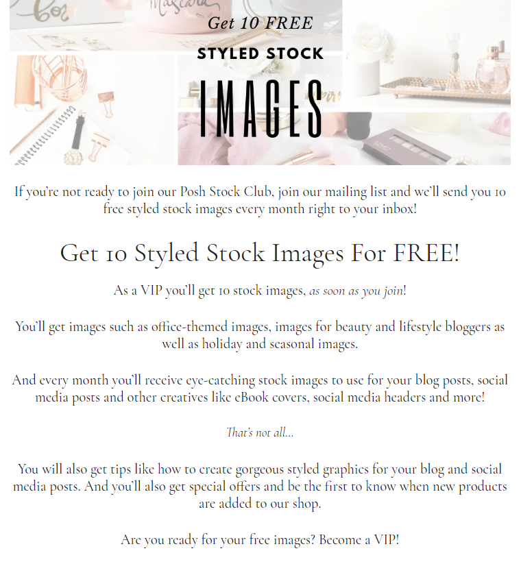posh stock images vip club benefits list