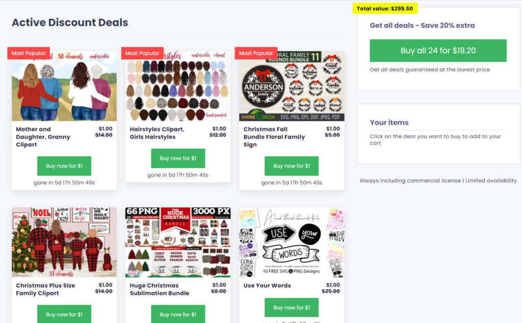 creative fabrica deals