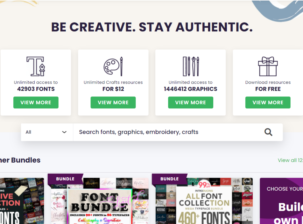 creative fabrica home page deals