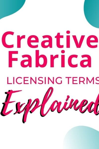 Creative Fabrica License Terms words